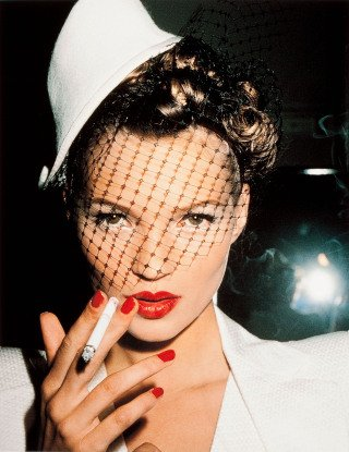 Kate Moss with Fag, Paris, by <a href='/site-admin/artists/artist/929'>Roxanne Lowit</a>