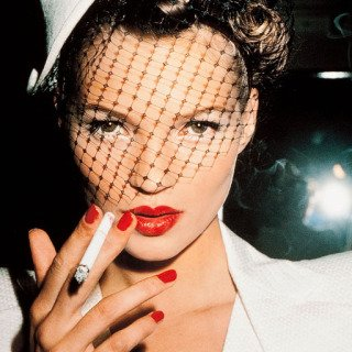 Kate Moss with Fag, Paris, by Roxanne Lowit