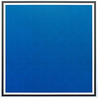 Sol LeWitt, Colors with Lines in Four Directions, Within a Black Border (Blue)