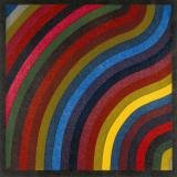 Sol LeWitt, Two Centimeter Wavy Bands In Colors