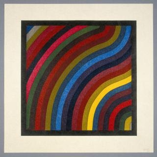 Sol LeWitt Two Centimeter Wavy Bands In Colors art for sale