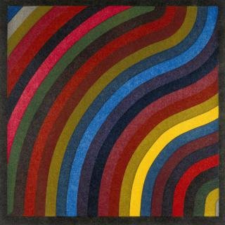Two Centimeter Wavy Bands In Colors, by Sol LeWitt