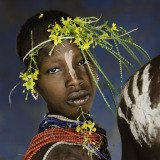 Steve McCurry, Child Adorned with Flowers