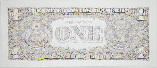Tom Friedman Untitled (dollar print, back) art for sale