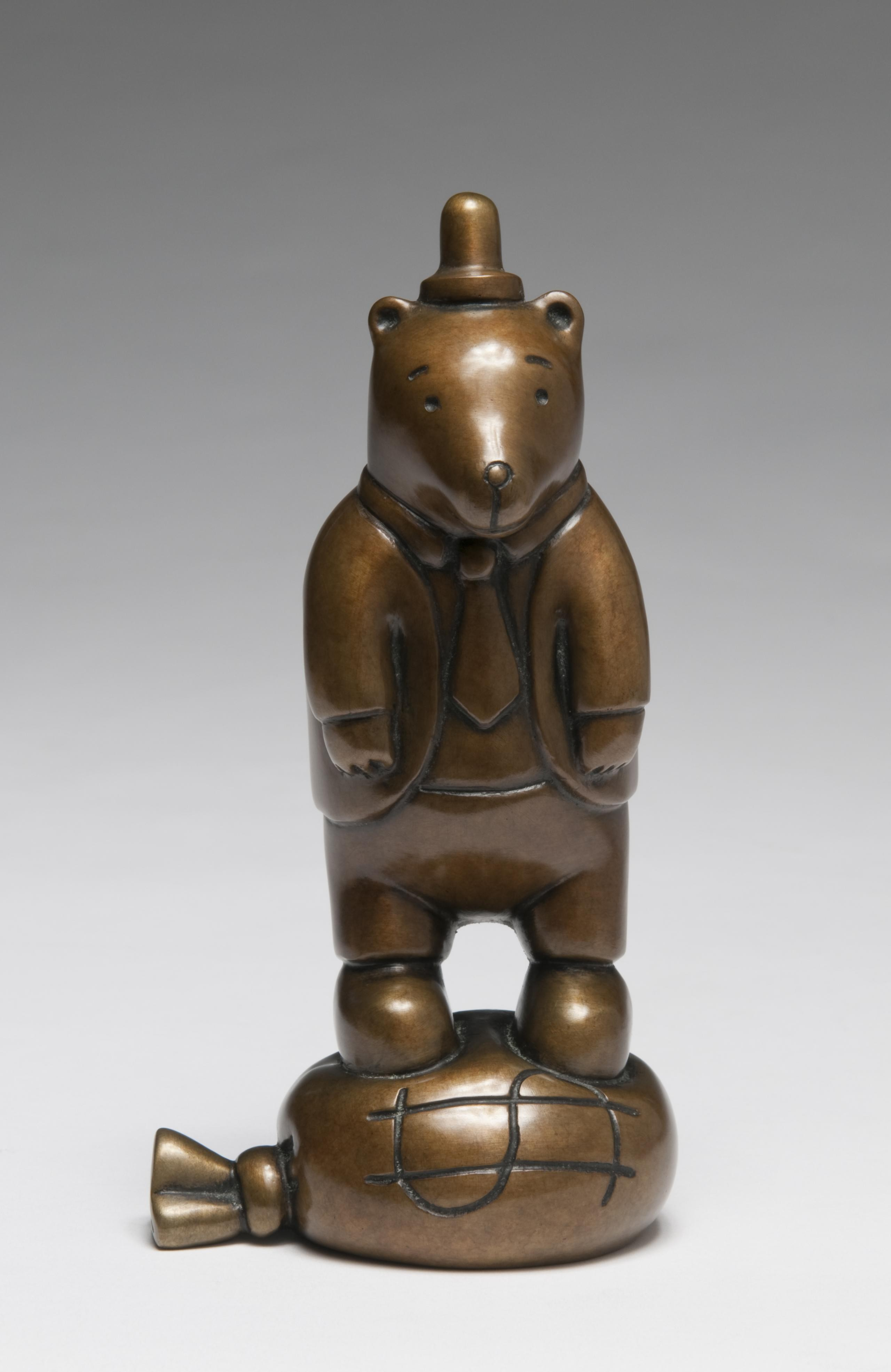 Tom Otterness, Dressed Up Bear On Money Bag