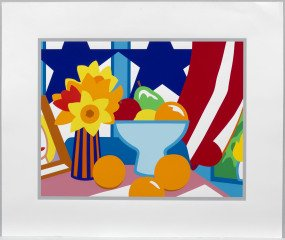 Tom Wesselmann Still Life with Blowing Curtain (Red) art for sale