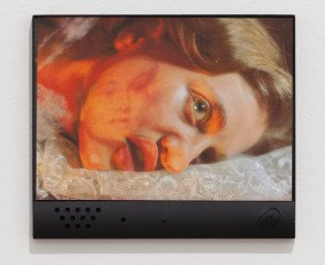 Tony Oursler Untitled (Talking Photograph) art for sale