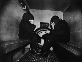 In the Paddy Wagon, by Weegee (Arthur Fellig) 