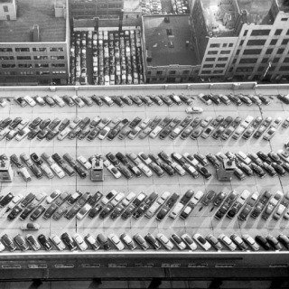 Werner Bischof, New York City. View from the bus terminal. October 1953.
