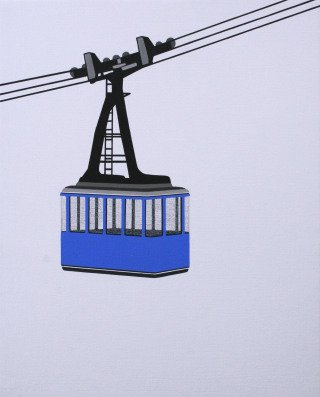 Aerial Tram Blue, by William Steiger